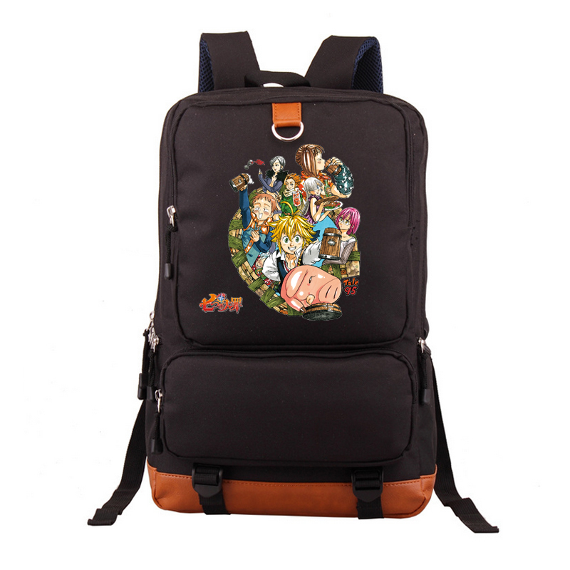 2017 New The Seven Deadly Sins Backpack School Bags Bookbag Satchel Work Leisure Black Bag Cartoon Laptop Travel Shoulder Bags high q cartoon rick and morty 2017 new arrival backpack students couple printing candy color leisure bags