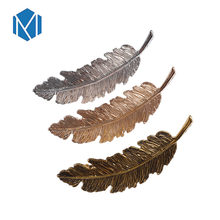 M MISM New Kawaii Hair Clips For Women Metal Feather Silver Golden Barrette Vintage Hairpins Korean Fashion Prendedor De Cabelo(China)