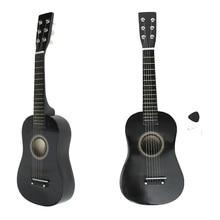 Zebra 23 6 Strings Black Basswood Plywood Acoustic Bass Guitar Guitarra Musical Instrument Ukulele For Kids