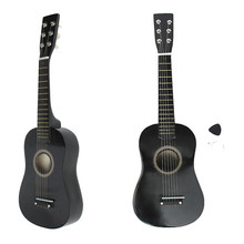 "Zebra 23"" 6 Strings Black Basswood Plywood Acoustic Bass Guitar Guitarra Musical Instrument Ukulele For Kids+Guitar Pick+String"