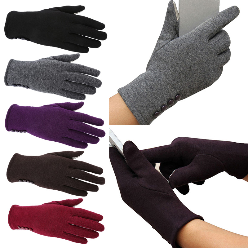 5a6d5d464b282 2017 Screen Toucable Gloves Ladies Womens Winter Warm Mittens Touchscreen  Gloves Hot Wool Gloves Mittens Cashmere W5-in Women's Gloves from Apparel  ...