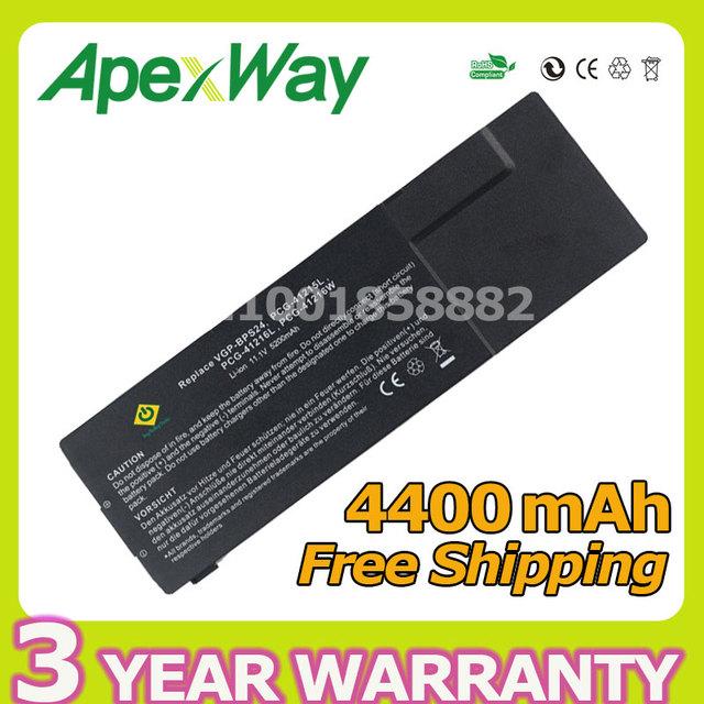 Apexway 6 celdas 11.1 v 4400 mah batería del ordenador portátil para sony vgp-bps24 vgp-bpl24 para vaio svs13 svs1311 svs1311 vpc-sb17 vpc-sa2 series