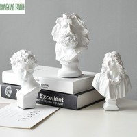 European Resin David Statue Home Furnishing Decoration Sculpture Crafts Livingroom TV Cabinet Plaster Desktop Ornament Figurine