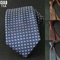 Для мужчин костюм узкий галстук Для мужчин s галстуки тонкий каблук 7 см в полоску, новый дизайн для худой шеи галстуки Бизнес Свадебная вече...