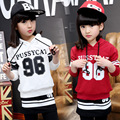 96 Manga Longa Modelada Camisola & Leggings Saia 2 Pcs Treino Cair 2016 Crianças Conjunto de Roupas Meninas Crianças Das Camisolas De Algodão