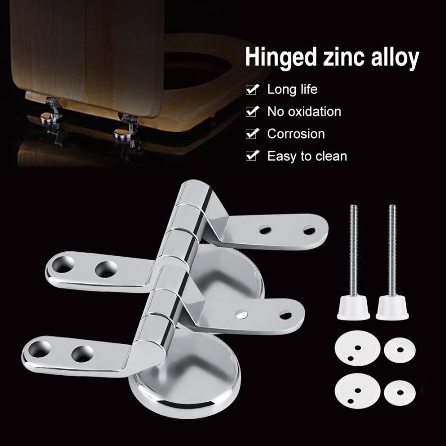2x Zinc Alloy Toilet Seat Replacement Repair Chrome Hinge Set Universal NEW US