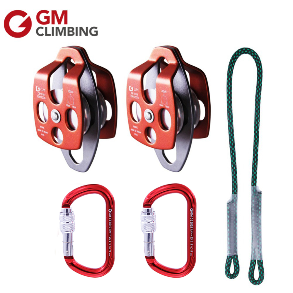 Outdoor Climbing Equipment Climbing Pulley Carabiner Rope Cord for Arborist Rigging Rescue