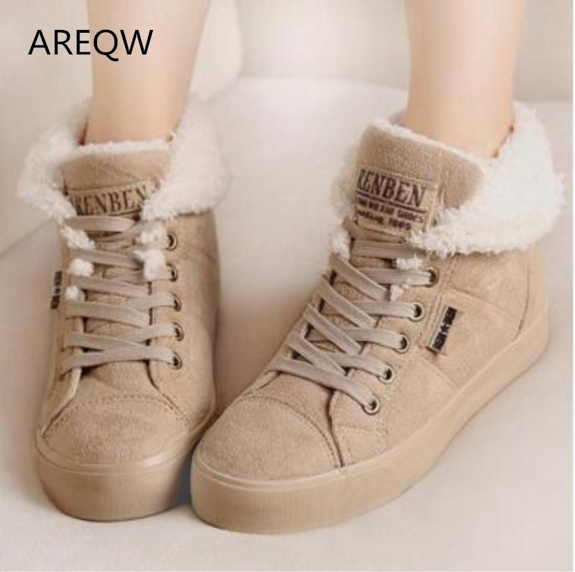 New 2016 fashion fur female warm ankle boots women boots snow boots and autumn winter women shoes