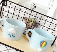 سماء الحب الإبداعية القدح مصغرة المنزلية الإفطار أكواب القهوة كوب قزح مجانية