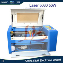 LY Water cooling Laser 5030 50W spindle Co2 engraving machine laser carving machine cutting machine with rotary
