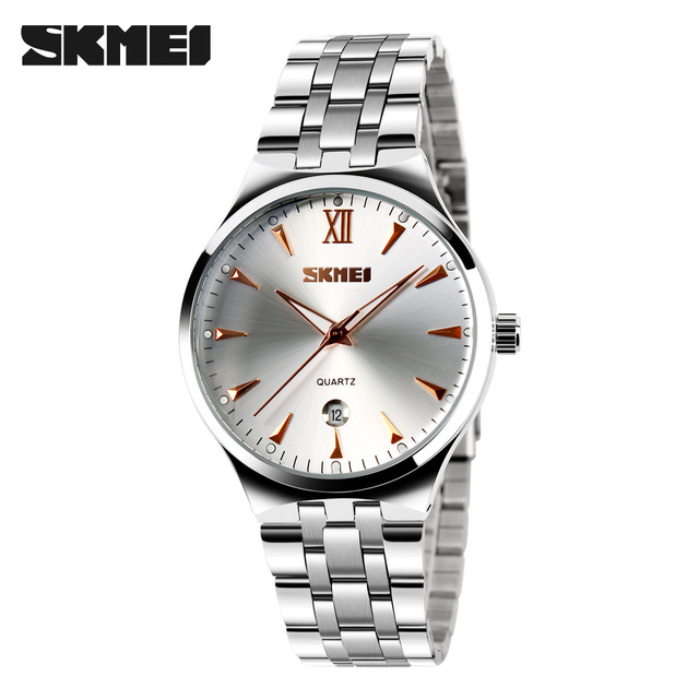 couples watch luxury brand Watch Skmei quartz Digital lady full steel wristwatches dive 30m Casual watch relogio masculino mujer