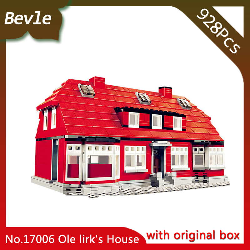 Bevle Store LEPIN 17006 928Pcs With original box Street View series Red house Building Kits Blocks Bricks Set Toys  10217 Gift bevle store lepin 22001 4695pcs with original box movie series pirate ship building blocks bricks for children toys 10210 gift