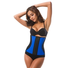 3 Hooks 9 Steel Bones Waist Shaper Corset 100% Latex Trainer Body Women Cincher Control Slim Belt