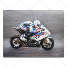 Handpainted Motorcycle Canvas Oil painting Modern Abstract Work Canvas Wall Art Painting for Living Room Home Decoration Picture(China)