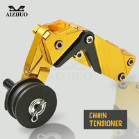 CNC Aluminum Motorcycle Chain Tensioner Rear Axle Spindle Chain Adjuster