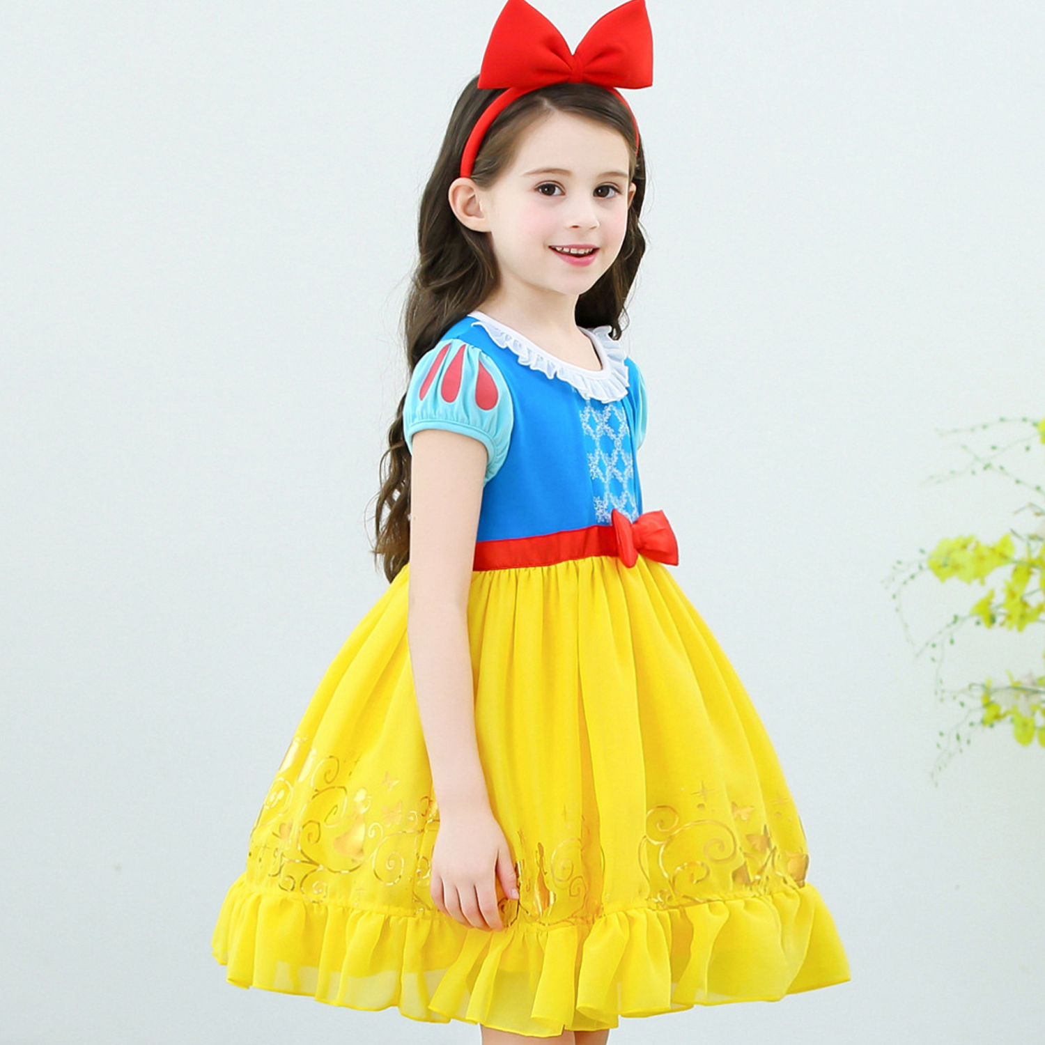 Infant Girls Christmas Snow White Princess Dresses Kids Cosplay Costume Halloween Clothes Toddler Party rapunzelDress for Girl 1
