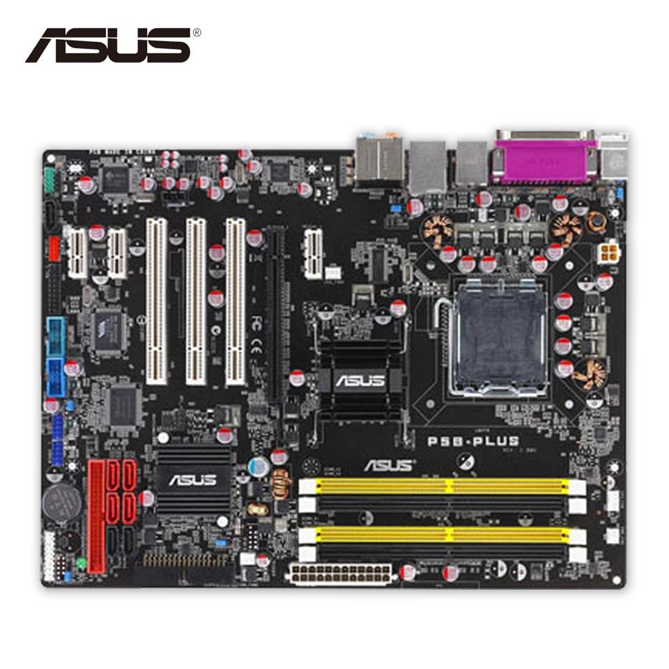 Asus P5B-PLUS Original Used Desktop Motherboard P965 Socket LGA 775 DDR2 SATA2 ATX for asus p6td deluxe original used desktop motherboard for intel x58 socket lga 1366 for i7 ddr3 sata2 usb2 0 atx