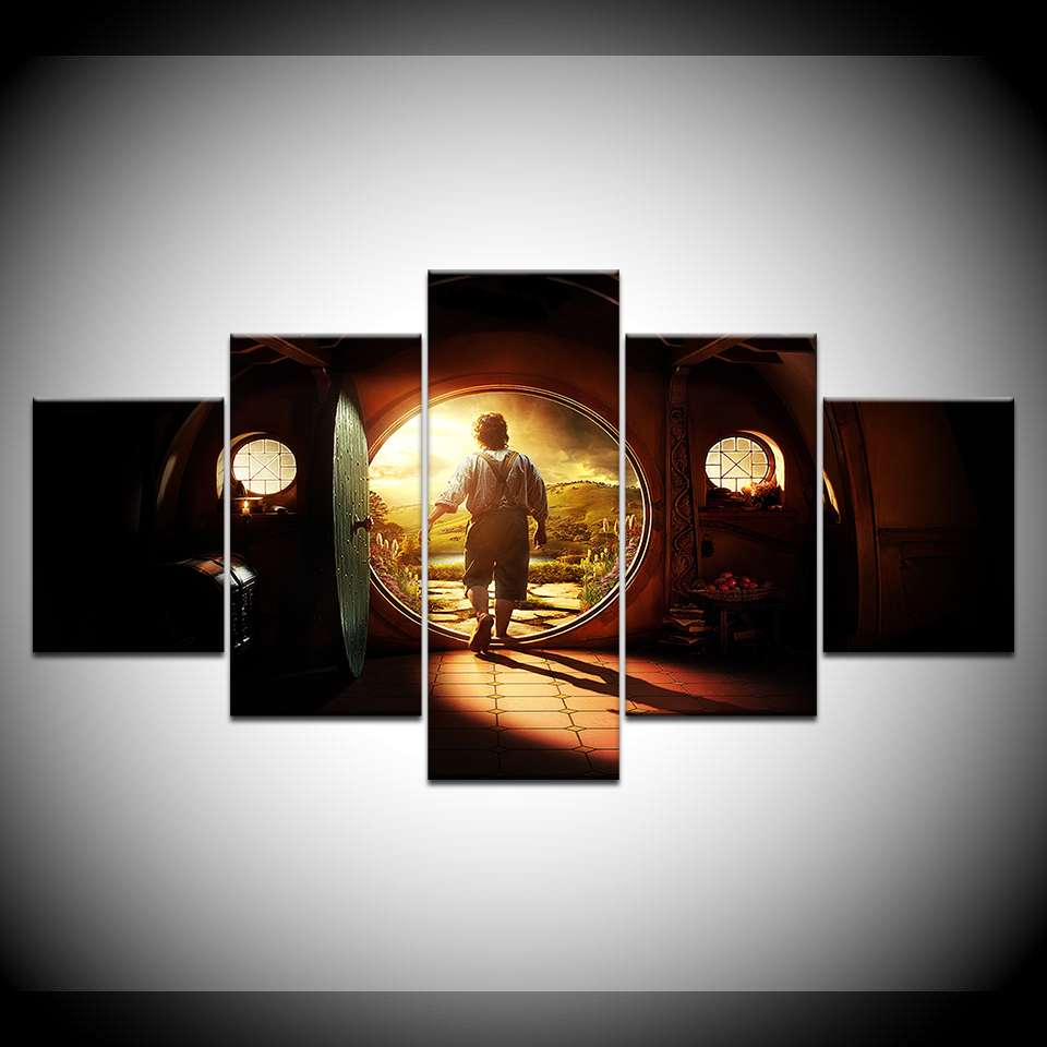 the hobbit an unexpected journey 5 piece canvas wallpapers modern