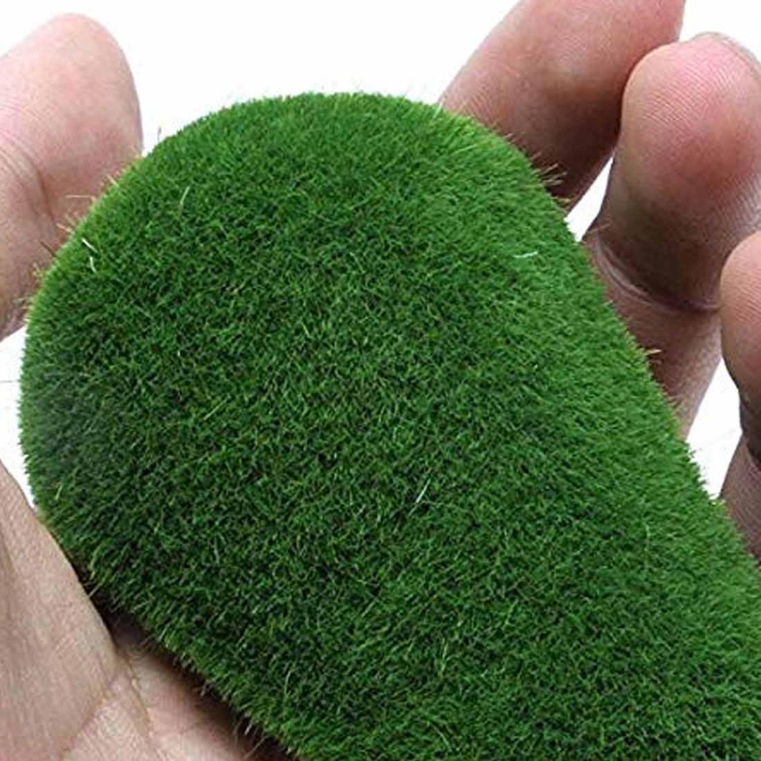 1 сумка искусственный зеленый мох шар искусственный камень имитация растения Сделай сам украшение для магазина окно Отель домашний офис растение Настенный декор
