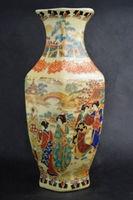 Chinese Famille Rose porcelain Vase HandPainted beautiful woman Qianlong mark