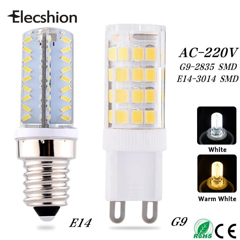 Elecshion Led light E14 G9 G4lamp leds bulb AC 220V night lights SMD 2835 3014 bulbs lamps Ceiling Chandeliers Fixtures corridor high quality 5050 leds ac dc12v gy6 35 led lamps g6 35 led crystal lamp 12v gy6 led bulbs lights free shipping 8pcs lot