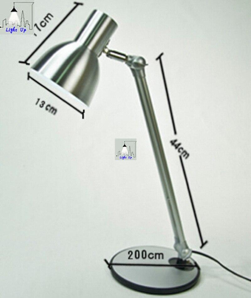 Современная краткое серебро офис чтения декор настольная лампа led складной алюминиевый сплав глаз защитить книги огни N1160