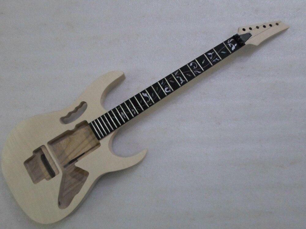 Bricolage guitare électrique Kit corps ébène touche érable cou pour IB style