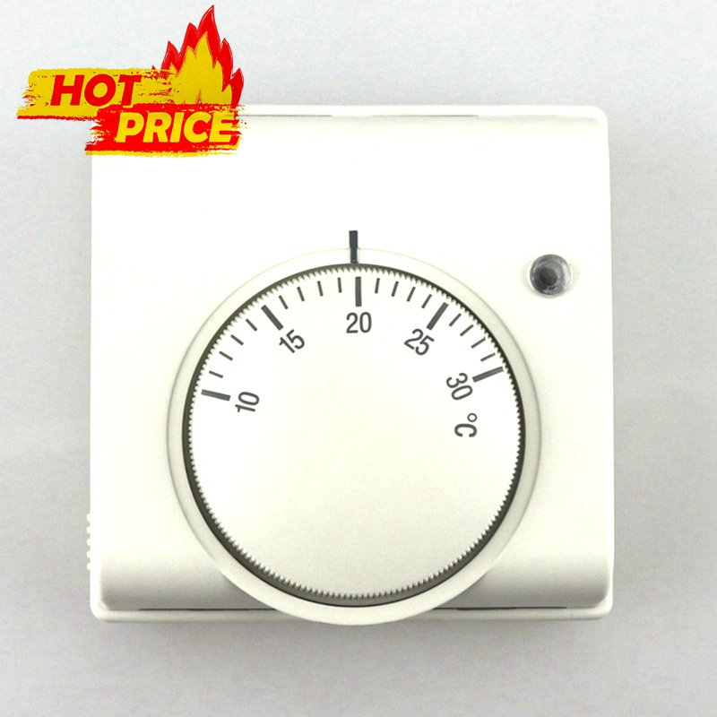 neue 6a 220 v ac mechanische raumluft thermostat regler fu bodenheizung thermostat. Black Bedroom Furniture Sets. Home Design Ideas