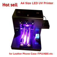 2017 A4 Size LED UV Printer 6 Color for Leather Phone Case /TPU/ABS etc Directly with Embossed Effect Printer LED UV Flatbed