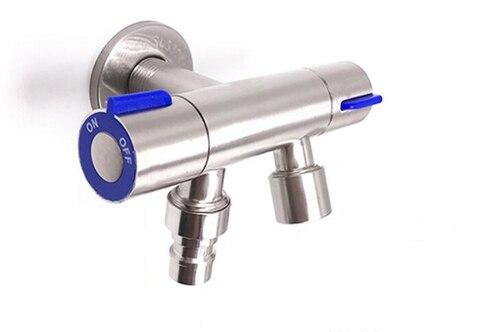 Tomada de Controle Acessórios do Banheiro Inoxidável Única Entrada Dupla Duplo Válvula Ângulo Três Vias Ag041 Aço