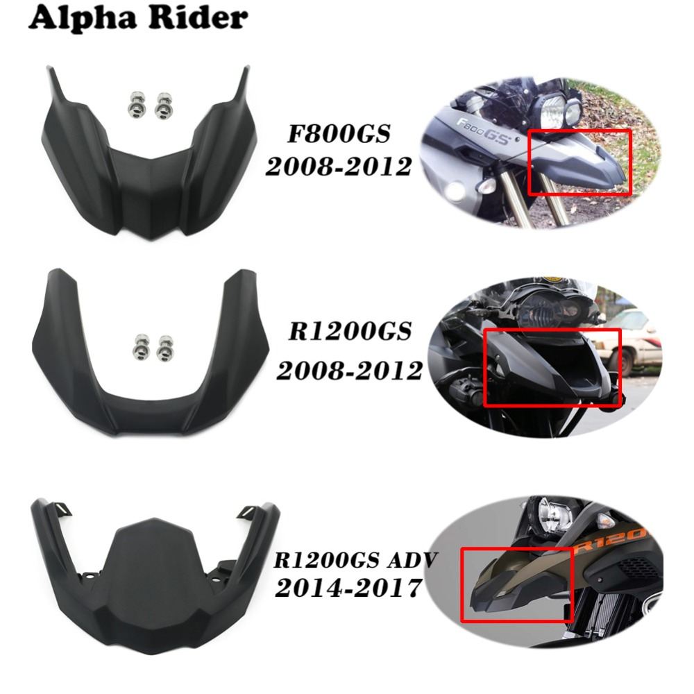 Front Fender Beak Extension Cover For <font><b>BMW</b></font> F800GS 08-12 / R1200 GS <font><b>R1200GS</b></font> <font><b>2008</b></font> - 2012 / <font><b>R1200GS</b></font> ADV Adventure 2014 - 2017 2016 image
