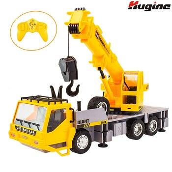 цена на RC Truck Crane Remote Control Hoist 1:26 Wireless Construction Vehicle Engineering Heavy Duty Electronic Toy Model Hobby For Kid