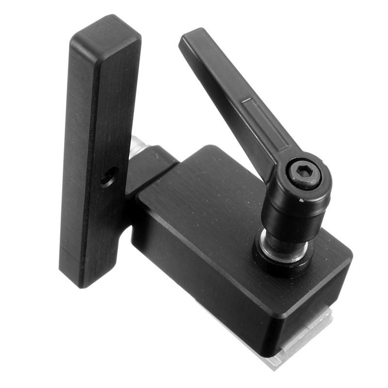1PC Miter Track Stop For T-Slot T-Track Wood Working Tool Miter Track Stop DIY Manual(Black)