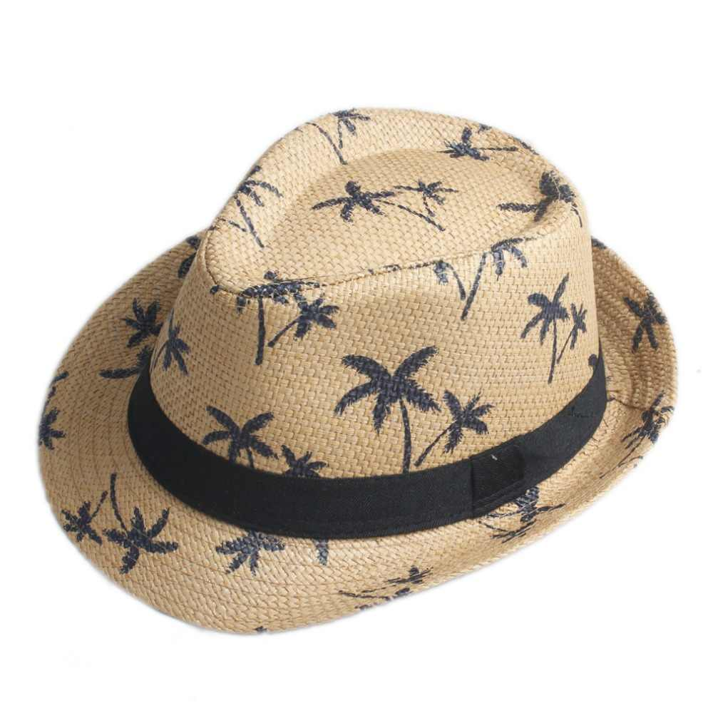 ff535c40867 Detail Feedback Questions about Men Women Summer Sun hat Beach fashion Cap  Fedora Trilby Gangster Cap Beach Sun Straw Panama Hat Sunhat IN Stock!!! on  ...