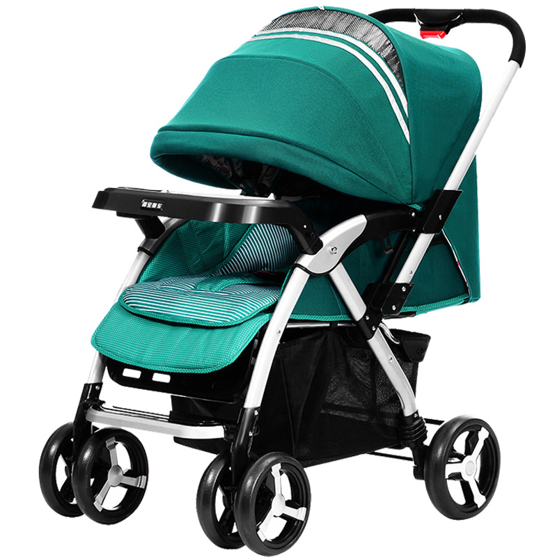 Baby Stroller Folding Baby Carriage High Landscape Sit and Lie Prams For Newborns Infant super light luxury baby stroller high landscape folding baby car shockproof portable prams and pushchairs for newborns 4 2kg