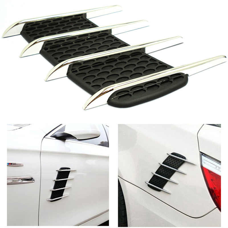 Автомобильный Стайлинг автомобиля 3D акульи жабры сторона воздуха вентиляционная решетка крышка отверстие Впускной поток декоративная решетка стикер Авто внешние аксессуары