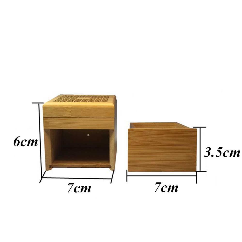 Бамбук спиральный ладан горелки с местом для хранения ящик для хранения печи ароматическая курильница спиральный ладан горелки, пропускающего воздух; Офис украшения