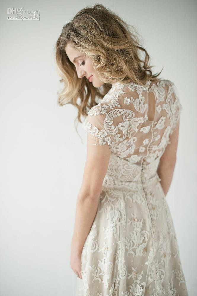 2014 lace back wedding dresses a vintage inspired lace