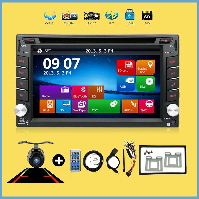 BT Car Electronic Doble 2din coche dvd GPS Del Coche de Navegación DVD reproduct