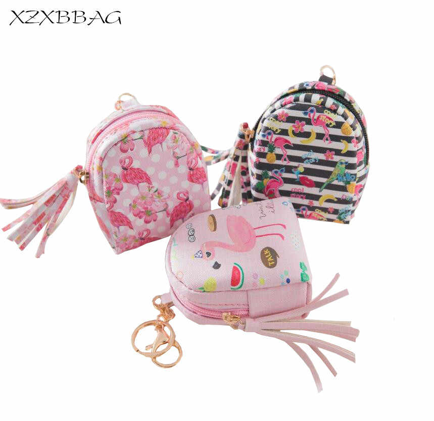 0794ec731a XZXBBAG Flamingos PU Leather Coin Purse Women 2018 New Zipper Small Wallet  Female Change Purse Students