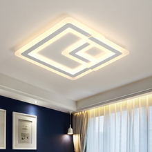 Simple modern Nordic childrens room LED ceiling light square creative lamps study wall