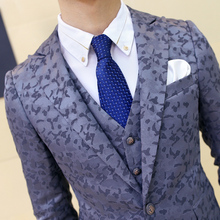 Men's high quality slim suits New Brand male Formal wear Wedding Dress Business casual clothing jackets+Vest +pants