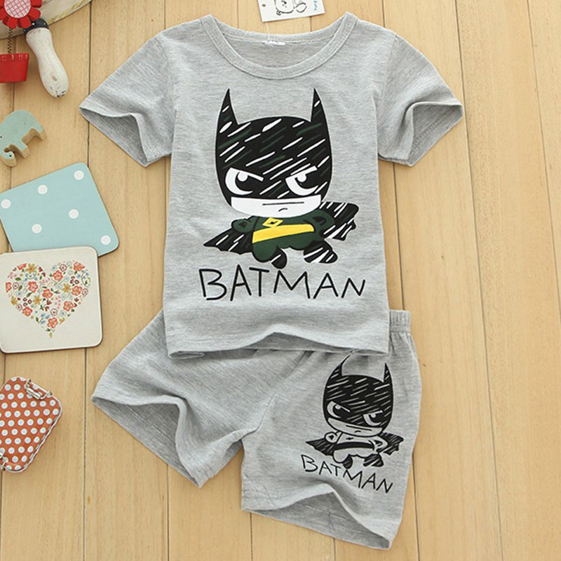 New boys clothing set short sleeve T-shirt+shorts clothes for boys fashion batman boys clothes kids set children clothing