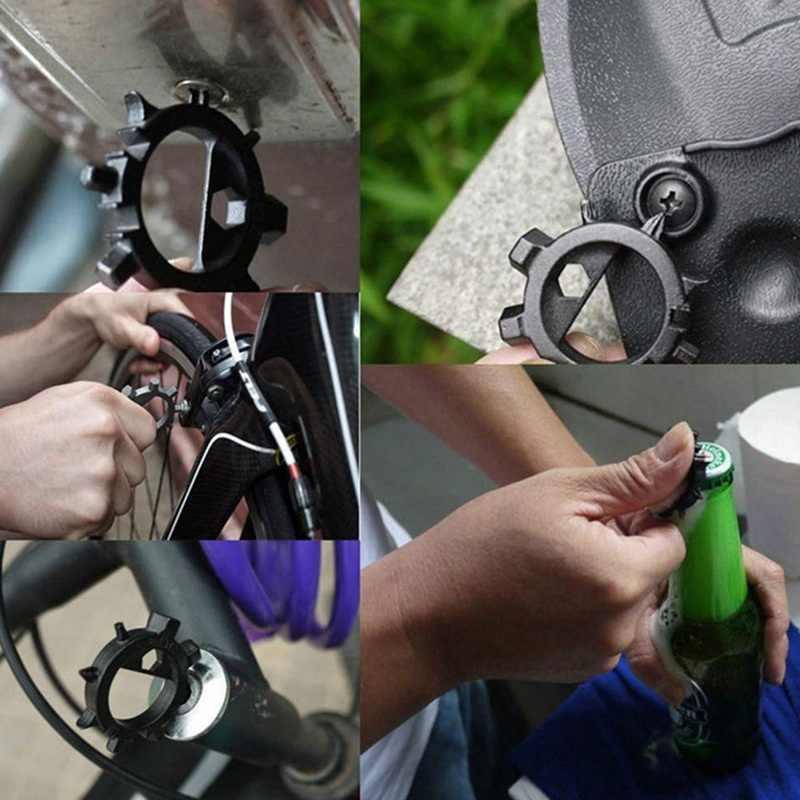 1 шт. 12 функций мультифункциональная отвертка Портативный ремонт велосипедов ручные инструменты Мультитул Отвертка Аллен ключ Ringtool