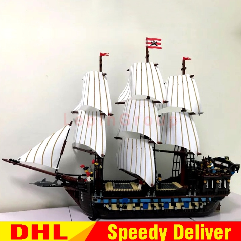 LEPIN 22001 Pirates Series The Imperial Flagship Model Building Blocks Set Pirate Ship legoings Toys For children Clone 10210
