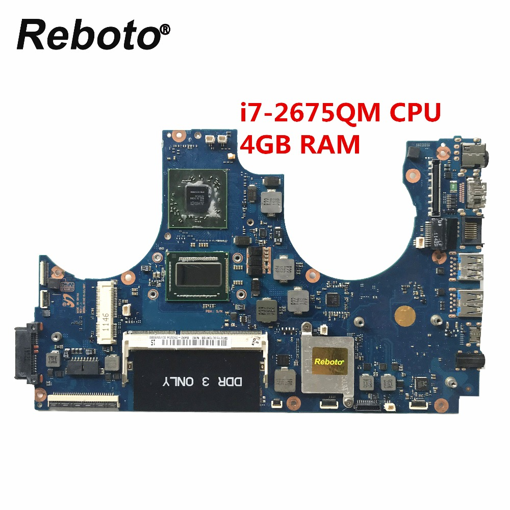 Reboto For Samsung NP700Z5A Laptop Motherboard With SR02S i7 2675QM CPU 4GB RAM BA92 09325A BA92