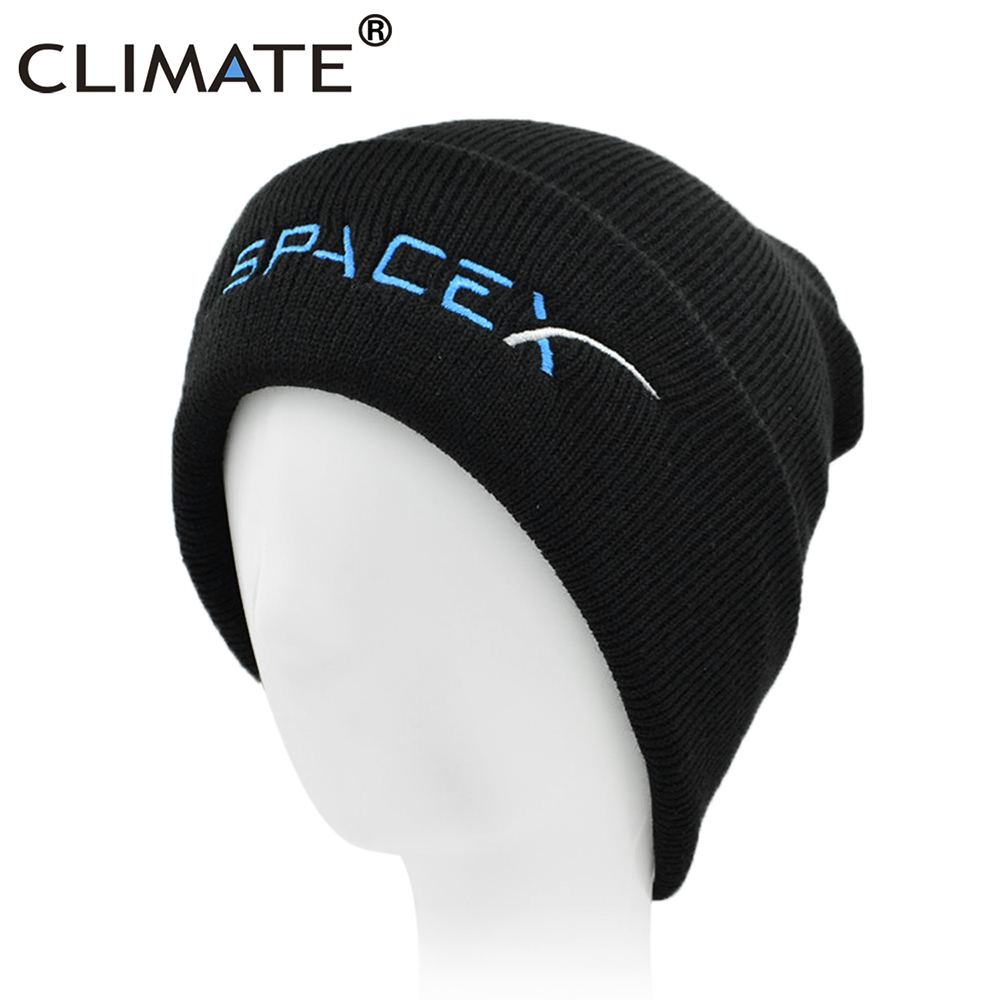 CLIMATE Spacex Men Beanine Hat Youth Winter Hat Cap Space X Outer Space  Rocket Knit Hat Beanie Caps Hat for Men Women Teenagers d11d431c4fd