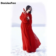 2019 classical hanfu costume women traditional chinese ancient woman red dance costumes for