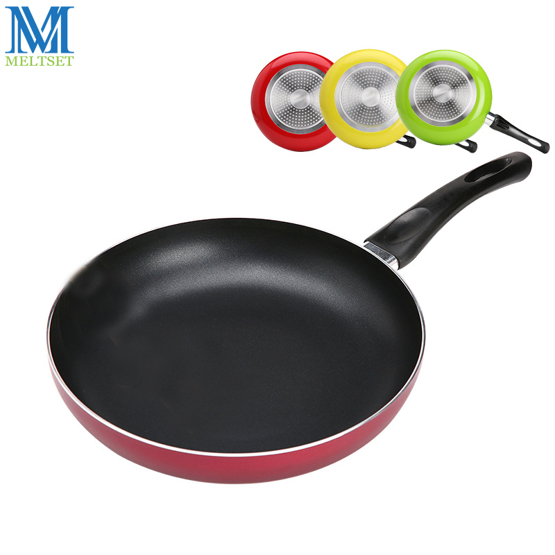 26cm Non-stick Frying Pan Aluminum Alloy Material Teflon Coating Inside Inductiion&Gas 3 Color Сковорода