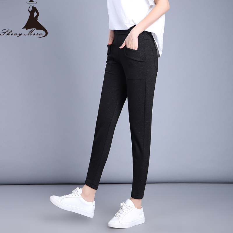 Hot Spring Casual Pants for Women 2017 New Fashion Ladies Elastic High Waist Capris Female Stretch